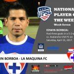UPSL National Player Of The Week: La Maquina FC's Edwin Borboa