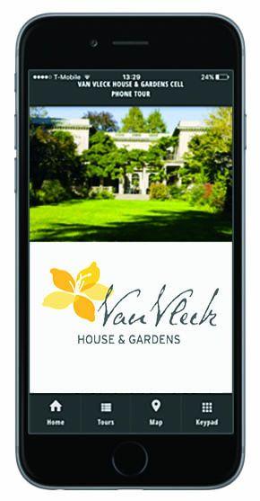The Van Vleck Gardens Mobile App offers educational audio tours