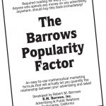 Now you can Download The Best Kept Secret in Advertising for only $4.95 at www.barrows.com