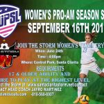 Santa Clarita Storm Announces Women's 2017 Team Entry in Women's United Premier Soccer League