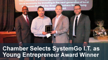 Chris Cook and Matt Irving receive Entrepreneur of the Year award